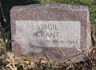 GRANT, VIRGIL - Thurston County, Nebraska   VIRGIL GRANT - Nebraska Gravestone Photos