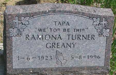GREANY, RAMONA - Thurston County, Nebraska | RAMONA GREANY - Nebraska Gravestone Photos