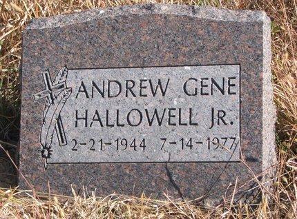 HALLOWELL, ANDREW GENE JR. - Thurston County, Nebraska | ANDREW GENE JR. HALLOWELL - Nebraska Gravestone Photos
