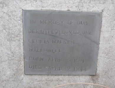 HALLOWELL, CECILIA - Thurston County, Nebraska | CECILIA HALLOWELL - Nebraska Gravestone Photos