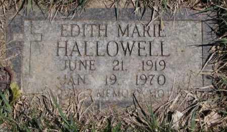 HALLOWELL, EDITH MARIE - Thurston County, Nebraska   EDITH MARIE HALLOWELL - Nebraska Gravestone Photos
