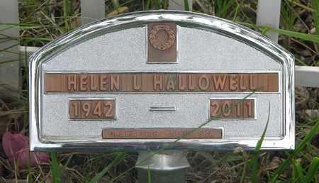 HALLOWELL, HELEN L. - Thurston County, Nebraska   HELEN L. HALLOWELL - Nebraska Gravestone Photos