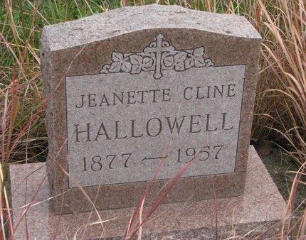 HALLOWELL, JEANETTE - Thurston County, Nebraska | JEANETTE HALLOWELL - Nebraska Gravestone Photos
