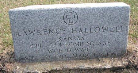 HALLOWELL, LAWRENCE - Thurston County, Nebraska   LAWRENCE HALLOWELL - Nebraska Gravestone Photos