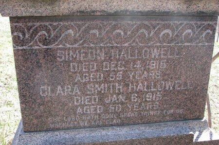 HALLOWELL, SIMEON (CLOSE UP) - Thurston County, Nebraska | SIMEON (CLOSE UP) HALLOWELL - Nebraska Gravestone Photos