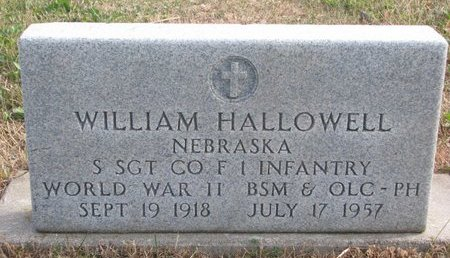HALLOWELL, WILLIAM - Thurston County, Nebraska | WILLIAM HALLOWELL - Nebraska Gravestone Photos