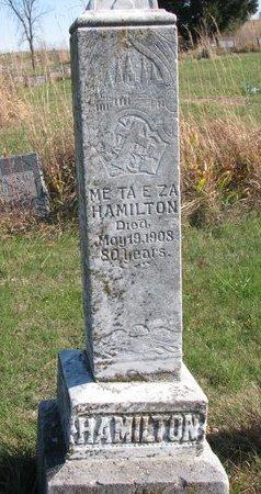 HAMILTON, ME TA E ZA - Thurston County, Nebraska   ME TA E ZA HAMILTON - Nebraska Gravestone Photos