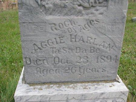 HARLAN, AGGIE (CLOSE UP) - Thurston County, Nebraska | AGGIE (CLOSE UP) HARLAN - Nebraska Gravestone Photos