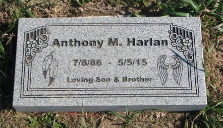 HARLAN, ANTHONY M. - Thurston County, Nebraska | ANTHONY M. HARLAN - Nebraska Gravestone Photos