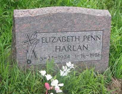 HARLAN, ELIZABETH - Thurston County, Nebraska   ELIZABETH HARLAN - Nebraska Gravestone Photos