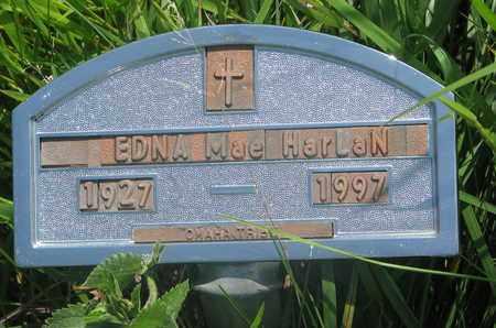 HARLAN, EDNA MAE - Thurston County, Nebraska   EDNA MAE HARLAN - Nebraska Gravestone Photos