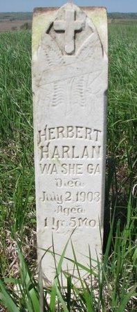 HARLAN, HERBERT - Thurston County, Nebraska   HERBERT HARLAN - Nebraska Gravestone Photos