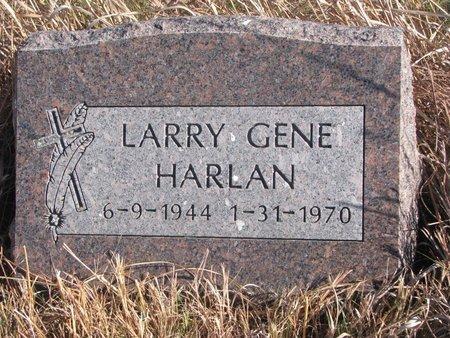 HARLAN, LARRY GENE - Thurston County, Nebraska | LARRY GENE HARLAN - Nebraska Gravestone Photos