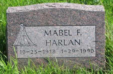 HARLAN, MABEL F. - Thurston County, Nebraska | MABEL F. HARLAN - Nebraska Gravestone Photos