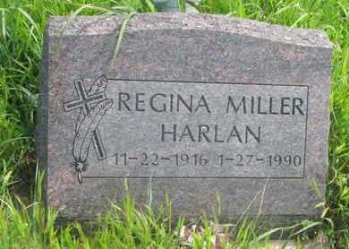 MILLER HARLAN, REGINA - Thurston County, Nebraska   REGINA MILLER HARLAN - Nebraska Gravestone Photos