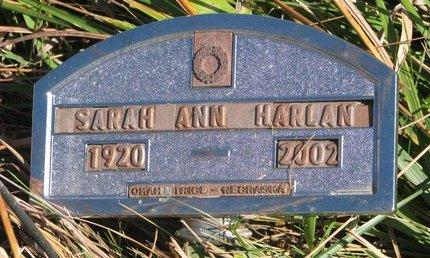 HARLAN, SARAH ANN - Thurston County, Nebraska | SARAH ANN HARLAN - Nebraska Gravestone Photos
