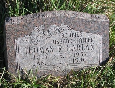 HARLAN, THOMAS R. - Thurston County, Nebraska | THOMAS R. HARLAN - Nebraska Gravestone Photos
