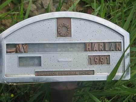 HARLAN, UNKNOWN - Thurston County, Nebraska | UNKNOWN HARLAN - Nebraska Gravestone Photos