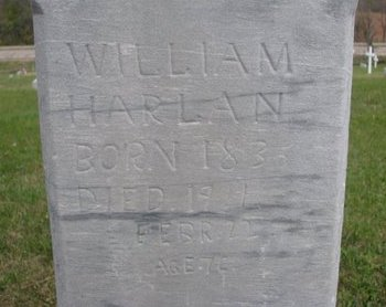 HARLAN, WILLIAM (CLOSE UP) - Thurston County, Nebraska | WILLIAM (CLOSE UP) HARLAN - Nebraska Gravestone Photos