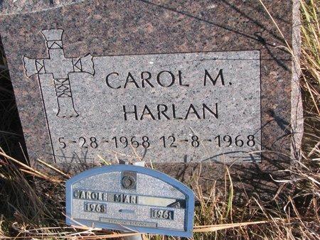 HARLAN, CAROL M. - Thurston County, Nebraska   CAROL M. HARLAN - Nebraska Gravestone Photos