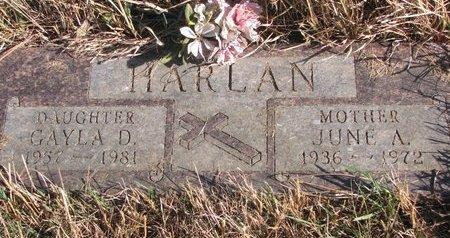 HARLAN, JUNE A. - Thurston County, Nebraska | JUNE A. HARLAN - Nebraska Gravestone Photos