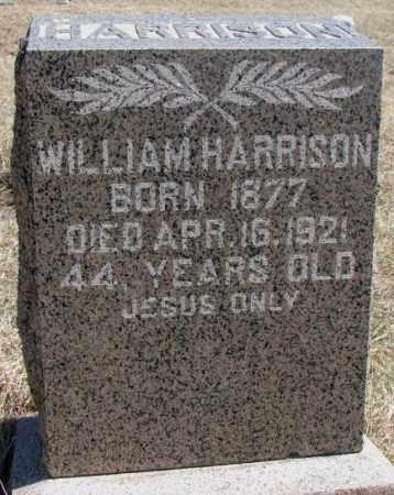 HARRISON, WILLIAM - Thurston County, Nebraska   WILLIAM HARRISON - Nebraska Gravestone Photos
