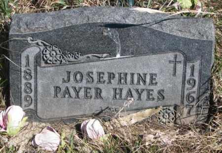 HAYES, JOSEPHINE - Thurston County, Nebraska   JOSEPHINE HAYES - Nebraska Gravestone Photos