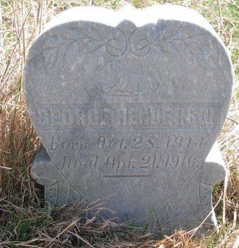 HENDERSON, GEORGE - Thurston County, Nebraska | GEORGE HENDERSON - Nebraska Gravestone Photos