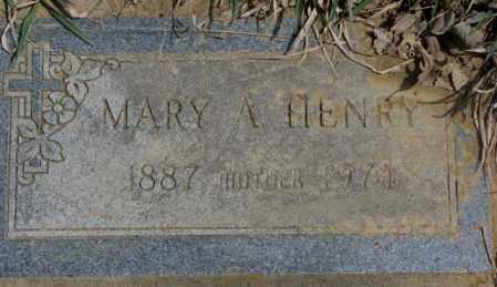 HENRY, MARY A. - Thurston County, Nebraska | MARY A. HENRY - Nebraska Gravestone Photos