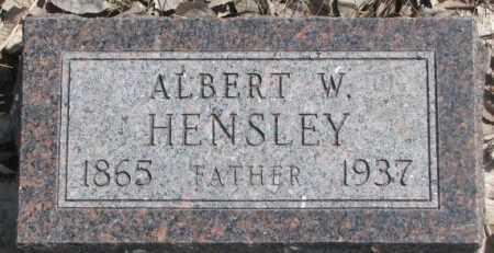 HENSLEY, ALBERT W. - Thurston County, Nebraska | ALBERT W. HENSLEY - Nebraska Gravestone Photos
