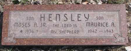 HENSLEY, MAURICE A. - Thurston County, Nebraska | MAURICE A. HENSLEY - Nebraska Gravestone Photos