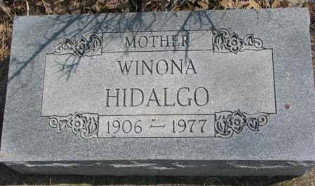 HIDALGO, WINONA - Thurston County, Nebraska   WINONA HIDALGO - Nebraska Gravestone Photos