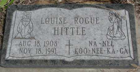 HITTLE, LOUISE - Thurston County, Nebraska | LOUISE HITTLE - Nebraska Gravestone Photos
