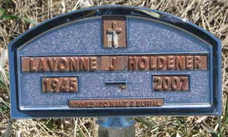 HOLDENER, LAVONNE J. - Thurston County, Nebraska | LAVONNE J. HOLDENER - Nebraska Gravestone Photos