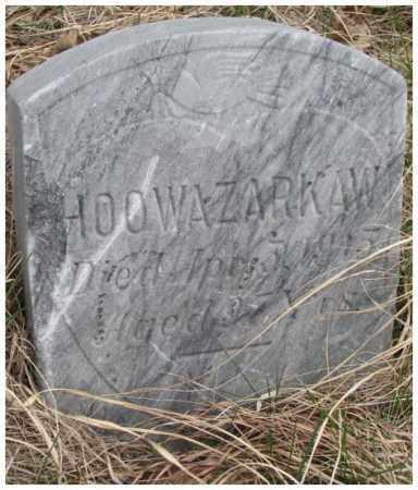 HOOWAZARKAW, . - Thurston County, Nebraska | . HOOWAZARKAW - Nebraska Gravestone Photos