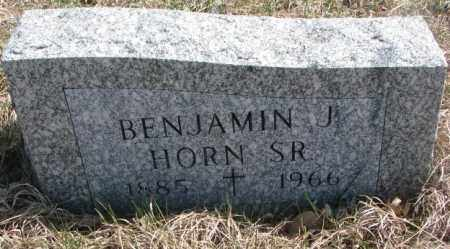 HORN, BENJAMIN J. SR. - Thurston County, Nebraska   BENJAMIN J. SR. HORN - Nebraska Gravestone Photos