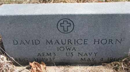 HORN, DAVID MAURICE - Thurston County, Nebraska | DAVID MAURICE HORN - Nebraska Gravestone Photos