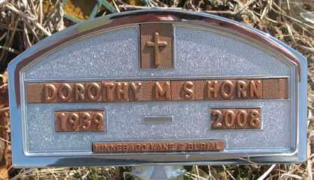 HORN, DOROTHY MS - Thurston County, Nebraska   DOROTHY MS HORN - Nebraska Gravestone Photos