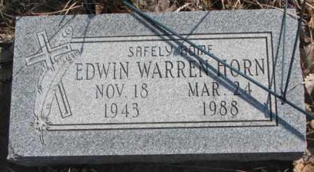 HORN, EDWIN WARREN - Thurston County, Nebraska | EDWIN WARREN HORN - Nebraska Gravestone Photos