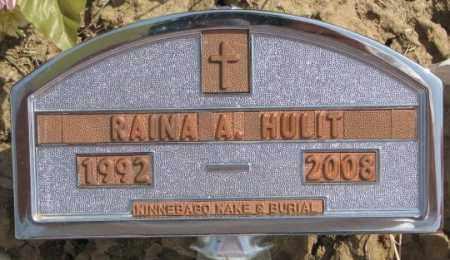 HULIT, RAINA A. - Thurston County, Nebraska   RAINA A. HULIT - Nebraska Gravestone Photos