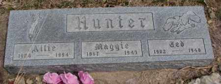 HUNTER, MAGGIE - Thurston County, Nebraska | MAGGIE HUNTER - Nebraska Gravestone Photos