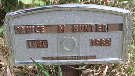 HUNTER, JANICE M. - Thurston County, Nebraska | JANICE M. HUNTER - Nebraska Gravestone Photos