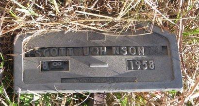 JOHNSON, SCOTT - Thurston County, Nebraska | SCOTT JOHNSON - Nebraska Gravestone Photos
