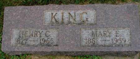 KING, MARY E. - Thurston County, Nebraska   MARY E. KING - Nebraska Gravestone Photos