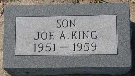 KING, JOE A. - Thurston County, Nebraska | JOE A. KING - Nebraska Gravestone Photos