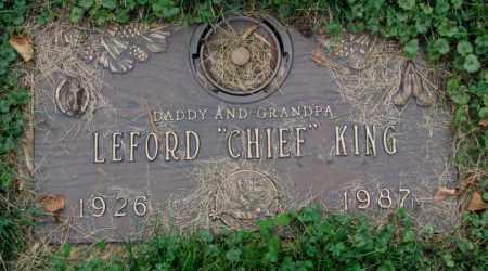 "KING, LEFORD ""CHIEF"" - Thurston County, Nebraska | LEFORD ""CHIEF"" KING - Nebraska Gravestone Photos"