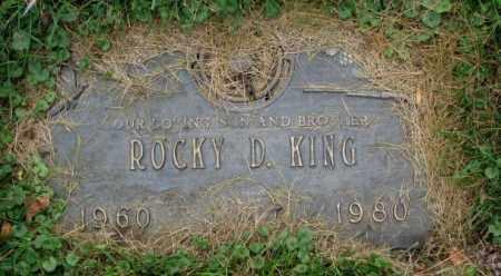 KING, ROCKY D. - Thurston County, Nebraska | ROCKY D. KING - Nebraska Gravestone Photos