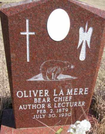 LA MERE, OLIVER - Thurston County, Nebraska | OLIVER LA MERE - Nebraska Gravestone Photos