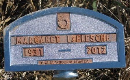 LAFLESCHE, MARGARET - Thurston County, Nebraska   MARGARET LAFLESCHE - Nebraska Gravestone Photos