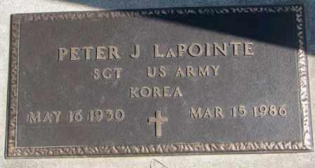 LAPOINTE, PETER J. (MILITARY) - Thurston County, Nebraska | PETER J. (MILITARY) LAPOINTE - Nebraska Gravestone Photos